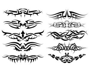 tribal tattoo set