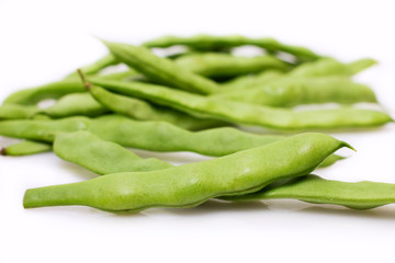 Fresh bean pods