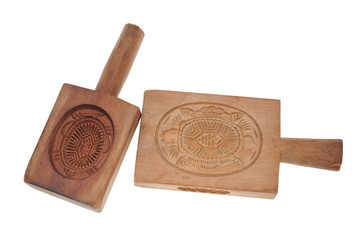 Wooden Mold For Making Chinese Tortoise-Shaped Dessert
