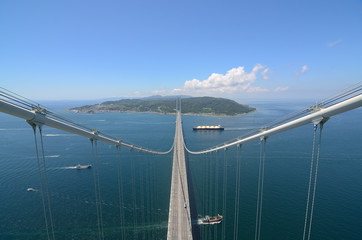 Akashi Kaikyo Bridge with Longest Central Span in the World