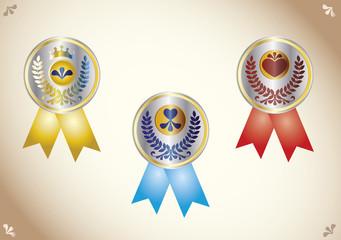 Três medalha