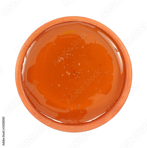 Small dish filled with honey