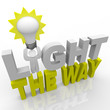 Light the Way - Leader with Bulb Lights Direction for Success