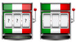 abstract Italy slot machine isolated on white background