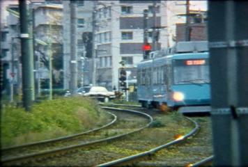 8mm color film train Tokyo Japan 3