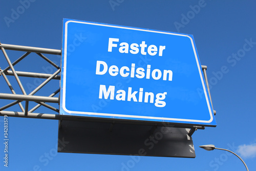 Highway sign - Faster Decision Making