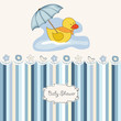 baby shower announcement card with duck