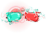 ana-glyph 3D glasses poster