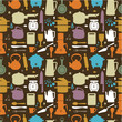 seamless kitchen pattern,vector illustration.