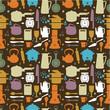 seamless kitchen pattern,vector illustration.