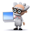 3d Mad Scientist has a new laptop