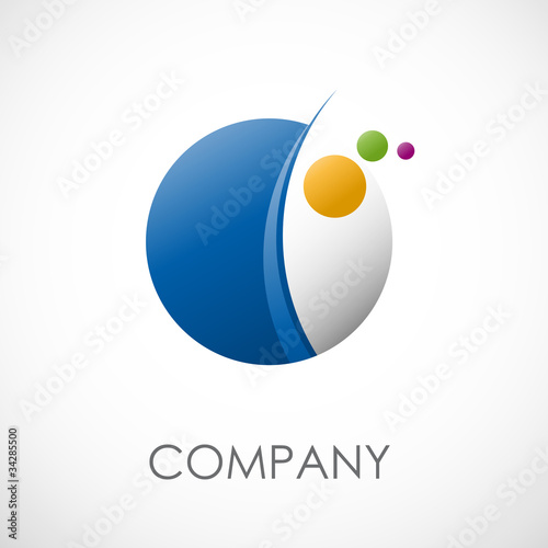 Logo abstract spheres and planets # Vector