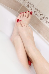 soft feet in milk bath