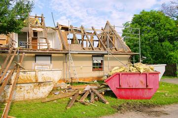 Dachstuhl abbrechen - roof truss demolish 09