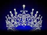 diadem feminine with reflection on black lighted background poster