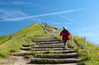auf der Treppe zum Gipfel