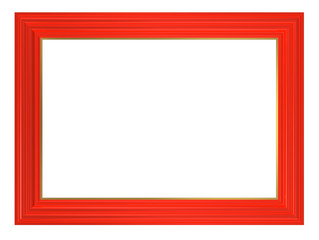 Red frame isolated on white background.
