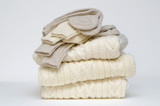 Fototapety Traditional Irish wool cable knit and Aran winter sweaters
