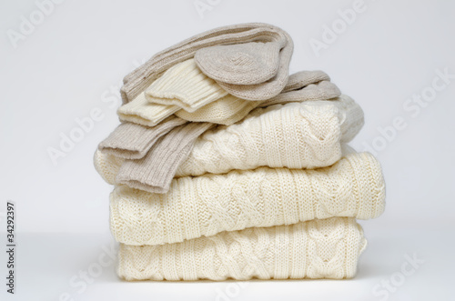 Traditional Irish wool cable knit and Aran winter sweaters