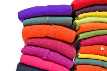 Colourful winter knitwear