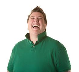 Woman Laughs Out Loud