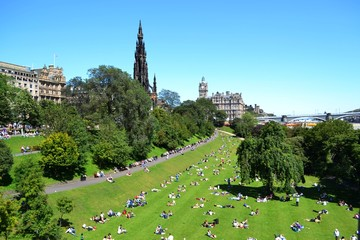 Edinburgh Scotland on a Sunny Summer Day