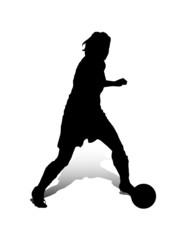 Fussballspielerin – Dribbling