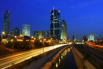 Night view on Tel Aviv.