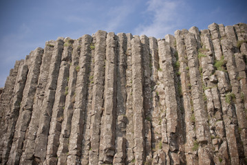 Tall basalt columns at Giants Causeway, Northern Ireland