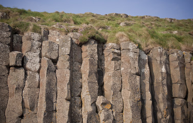Basalt columns at Giants Causeway, Northern Ireland