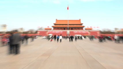 Tiananmen square time-lapse