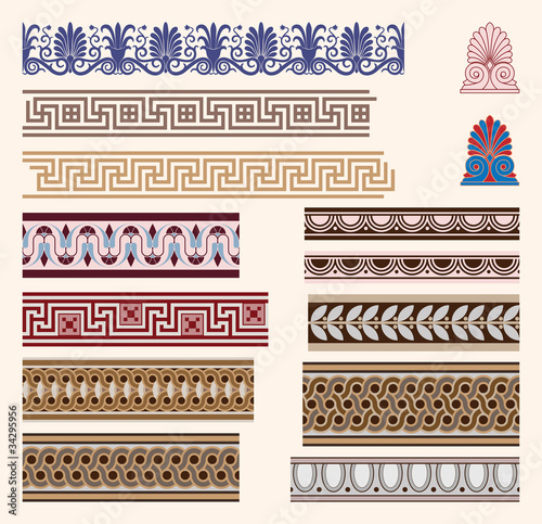 Greek border ornaments
