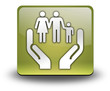 "Yellow 3D Effect Icon ""Social Services"""