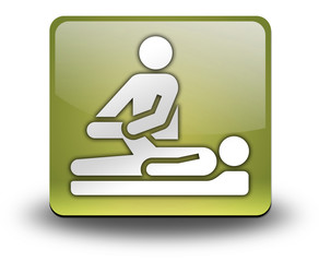 """Yellow 3D Effect Icon """"Physical Therapy"""""""