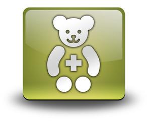 "Yellow 3D Effect Icon ""Pediatrics"""