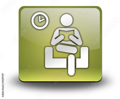 "Yellow 3D Effect Icon ""Waiting Room"""
