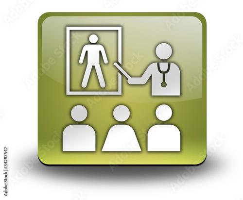 "Yellow 3D Effect Icon ""Health Education"""