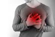 Leinwanddruck Bild - Herzschmerzen
