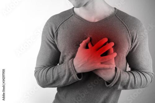 Leinwanddruck Bild Herzschmerzen