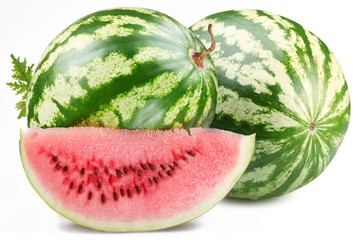 Watermelon with slice