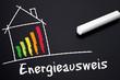 Tafel mit Energieausweis