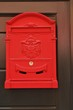 Antique metal red mail box