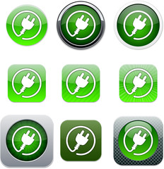 Power plug green app icons.