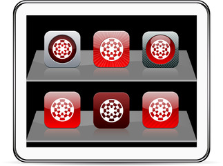 Target red app icons.