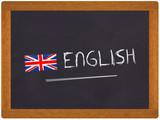 Fototapety ardoise english avec drapeau anglais