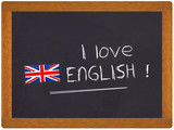 Fototapety ardoise - I love english
