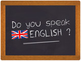 Fototapety Ardoise - Do you speak english ?