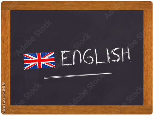 Ardoise english avec drapeau anglais de amathieu photo for Pouf avec drapeau anglais