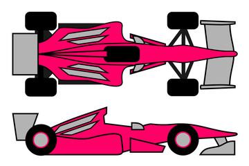 Coche rosa de competición