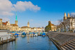 Zurich from Limmat river